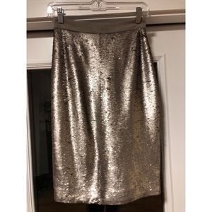 Banana Republic Sequin Pencil Skirt petite 0